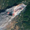 Kalifornijski požar iz svemira (Foto: AFP)