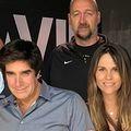 Viktorija i Dino Rađa s Davidom Copperfieldom