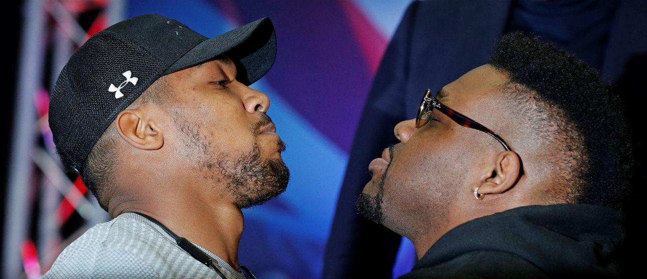 Anthony Joshua i Jarrell Miller (Foto: AFP)