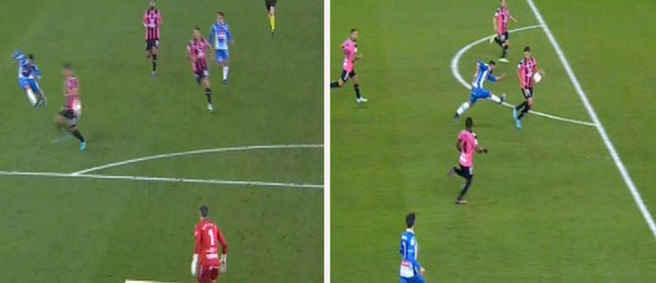 Sporni jedanaesterac za Espanyol (Screen shot Youtube.com)