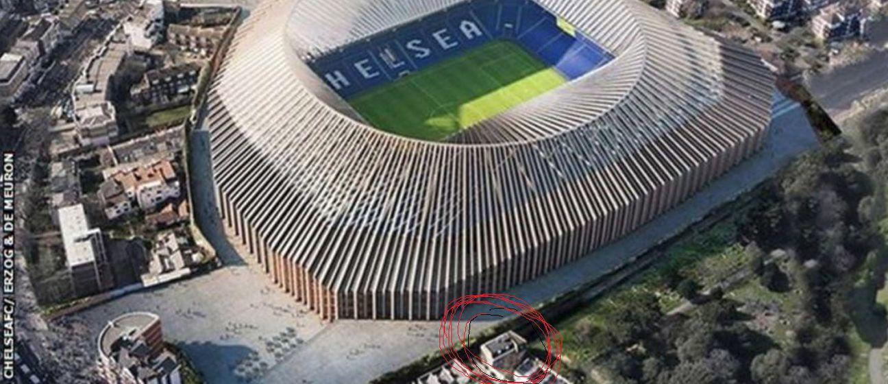 Stamford Bridge i nekretnina obitelji (Foto: Twitter)