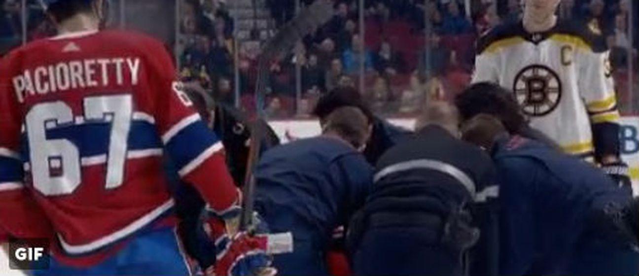 Zdeno Chara pogodio igrača Montreala s pakom u glavu (Screenshot Twitter)
