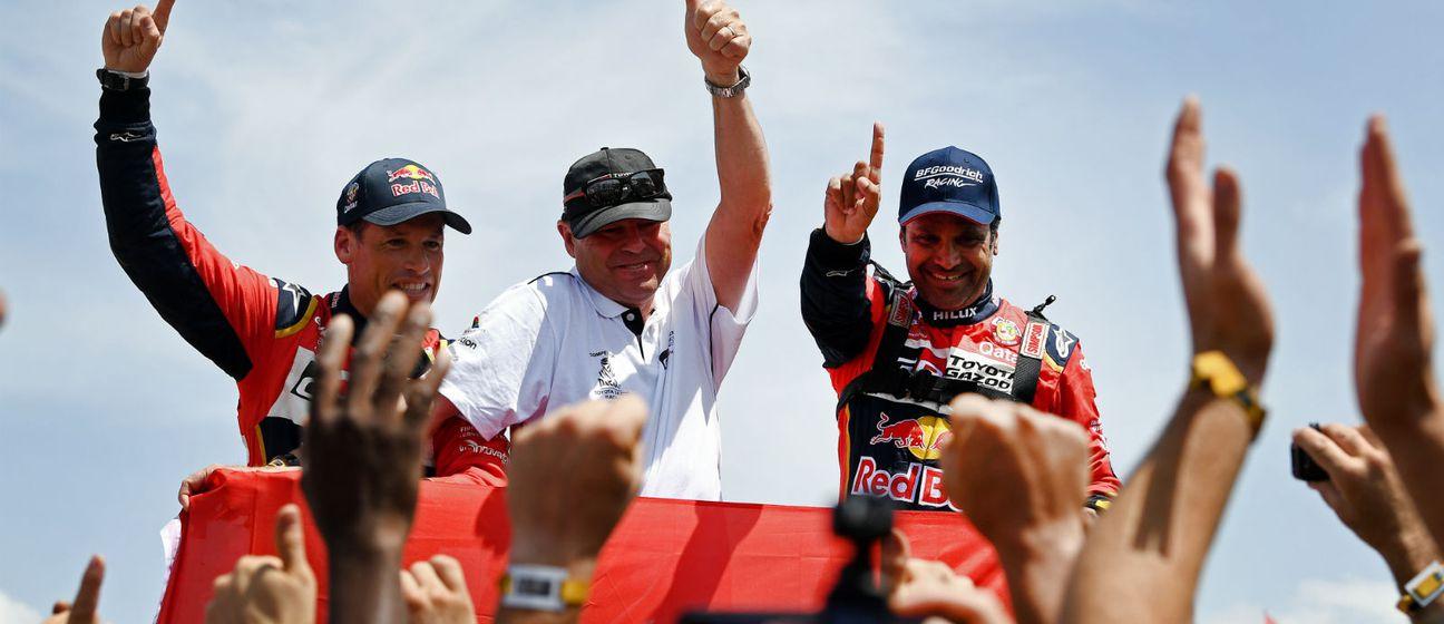 Nasser Al-Attiyah i Toby Price (Foto: AFP)