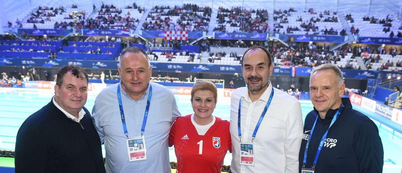 Kolinda Grabar-Kitarović na vaterpolo utakmici - 3