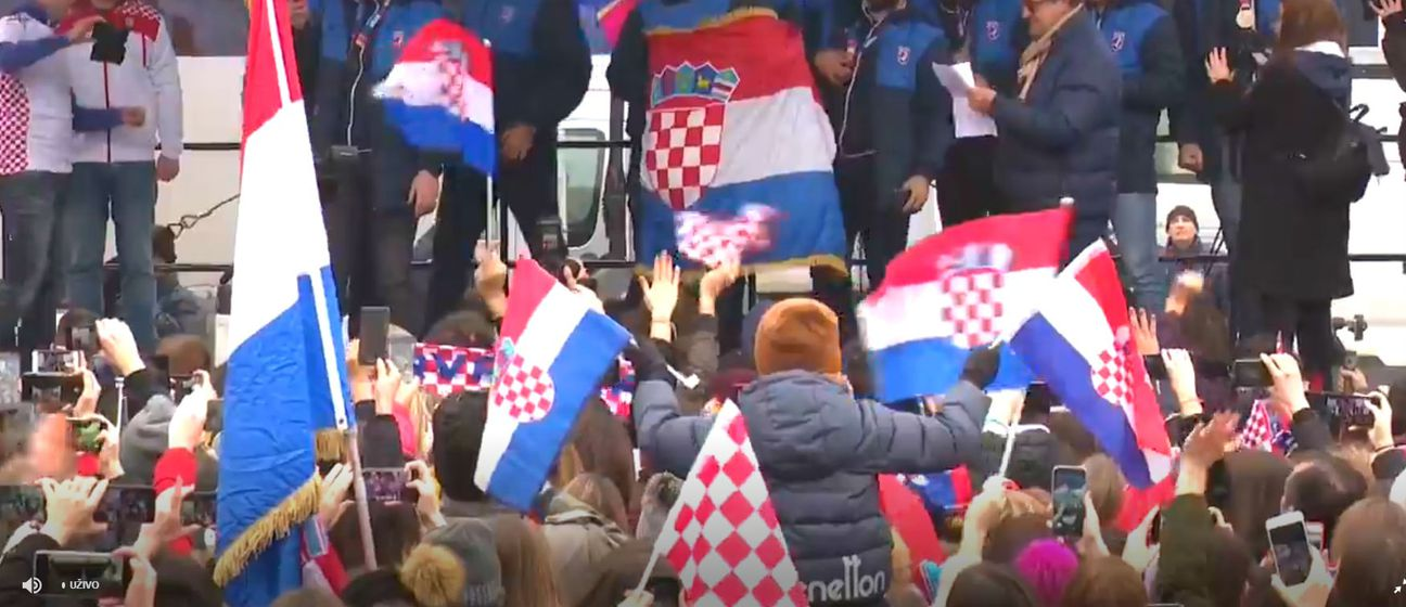 Hrvatski rukometaši doček