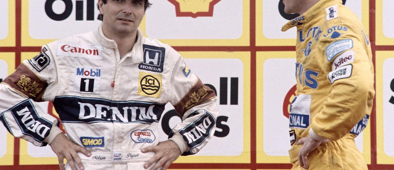 Nelson Piquet i Ayrton Senna (Foto: AFP)