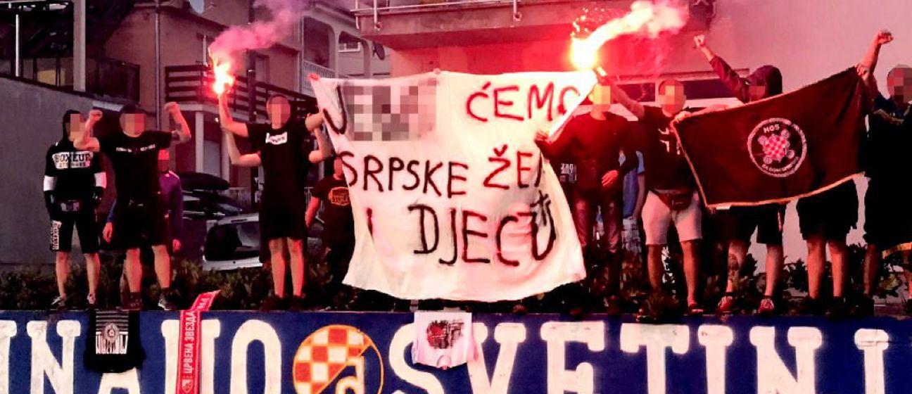 Sramotni transparent osvanuo je u zagrebačkoj Kustošiji - 1