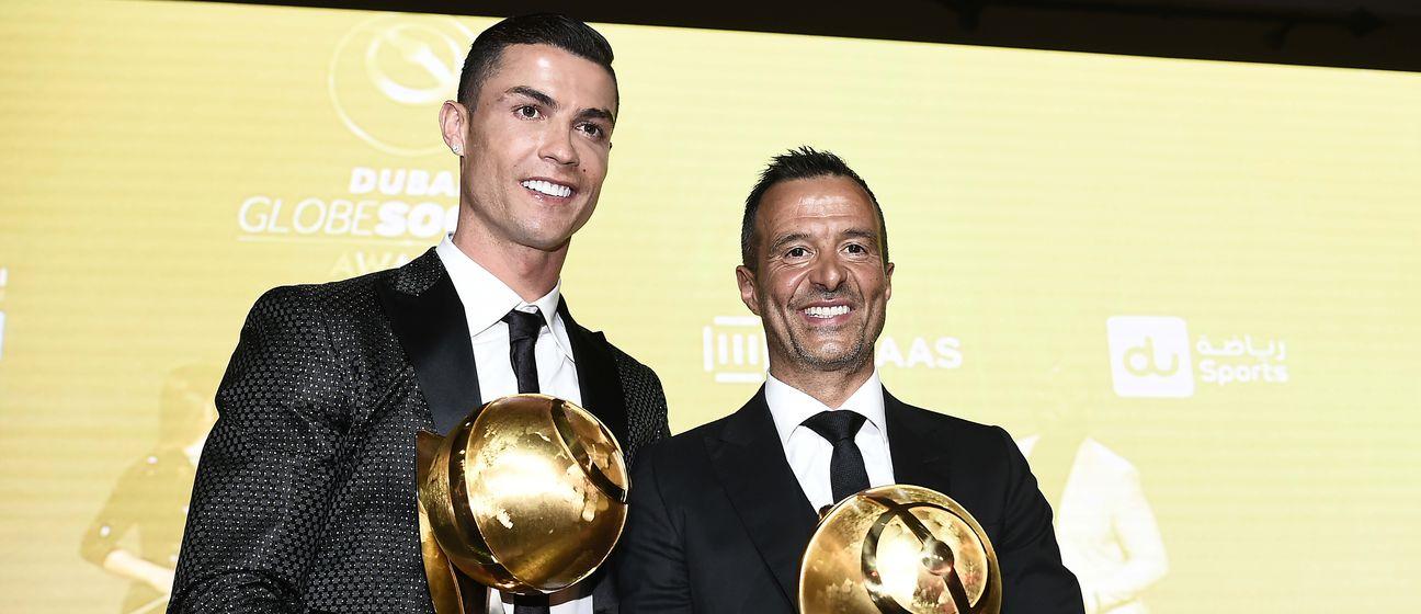 Cristiano Ronaldo i Jorge Mendes (Foto: AFP)