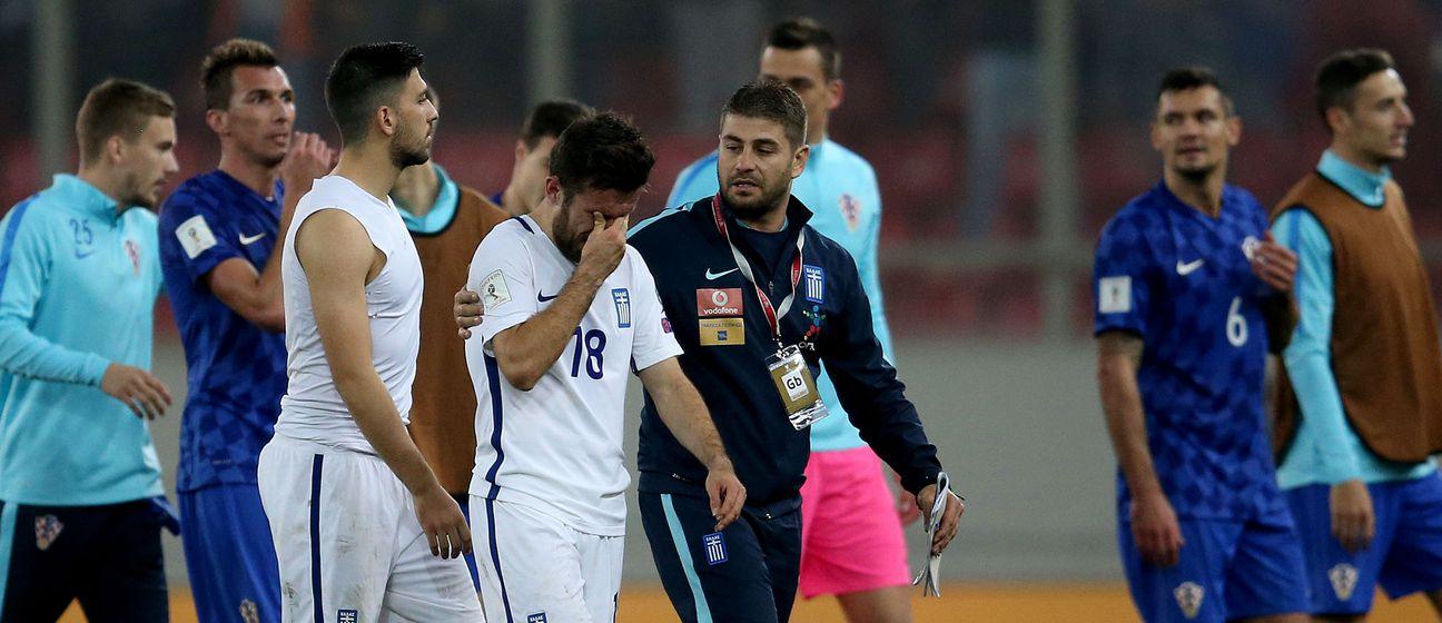 Tuga grčkih nogometaša (Foto: Igor Kralj/PIXSELL)