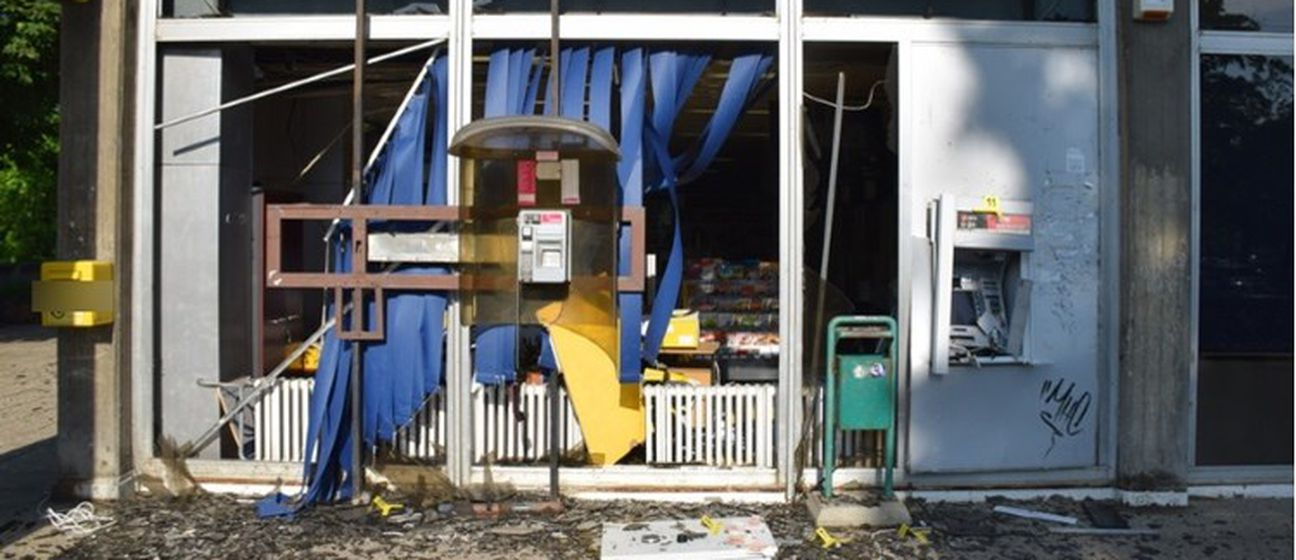 Razneseni bankomat (Foto: PU zagrebačka)