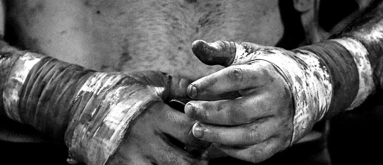 Boks bez rukavica (ilustracija)