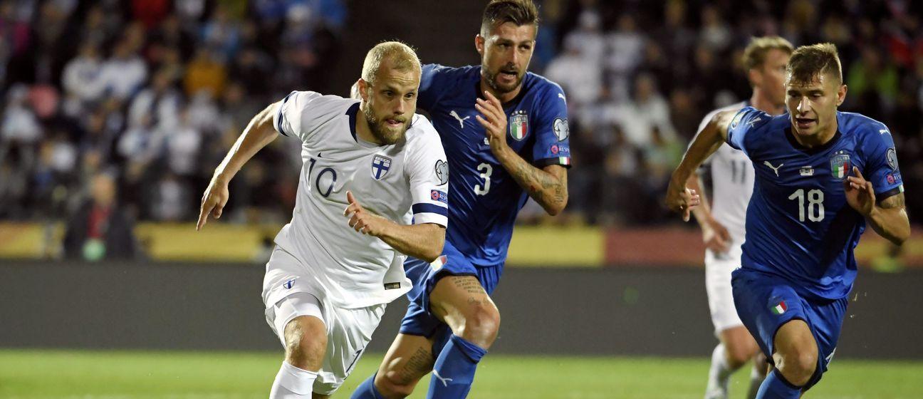 Detalj s utakmice Finska - Italija (Foto: AFP)
