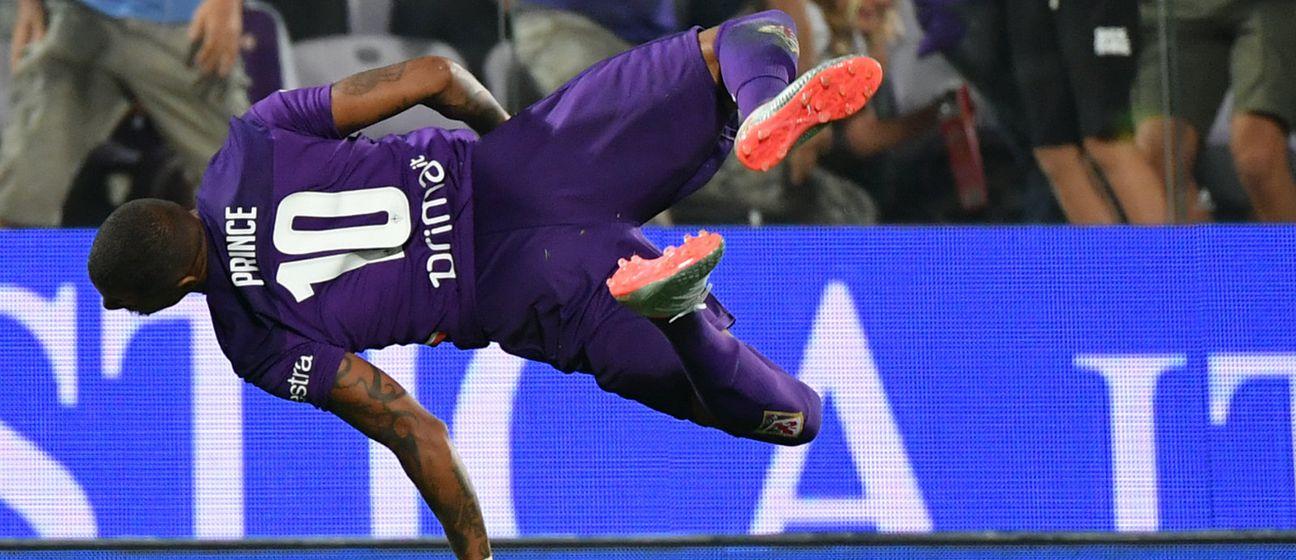 Kevin-Prince Boateng akrobatski slavi gol (Foto: AFP)