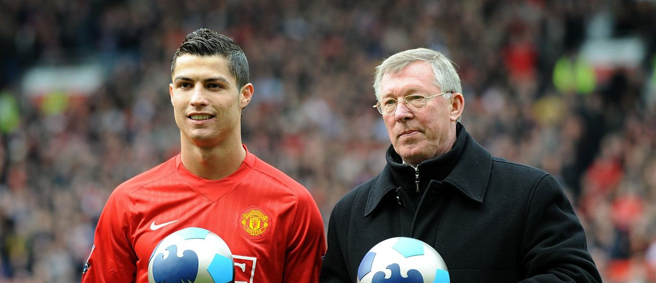 Cristiano Ronaldo i Sir Alex Ferguson
