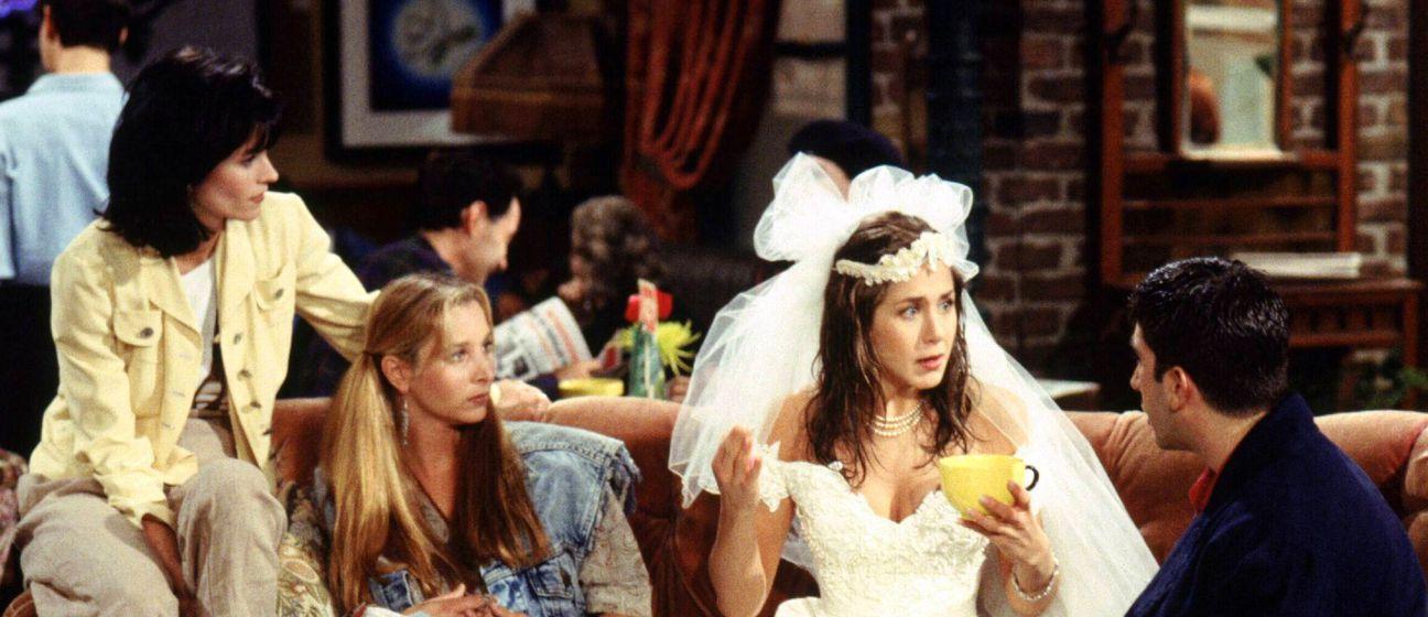 Scena iz prve epizode Prijatelja koja se premijerno emitirala 22. rujna 1994.