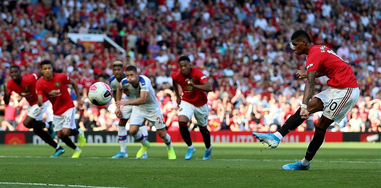 Rashford promašio penal protiv Crystal Palacea (Foto: Nigel French/Press Association/PIXSELL)