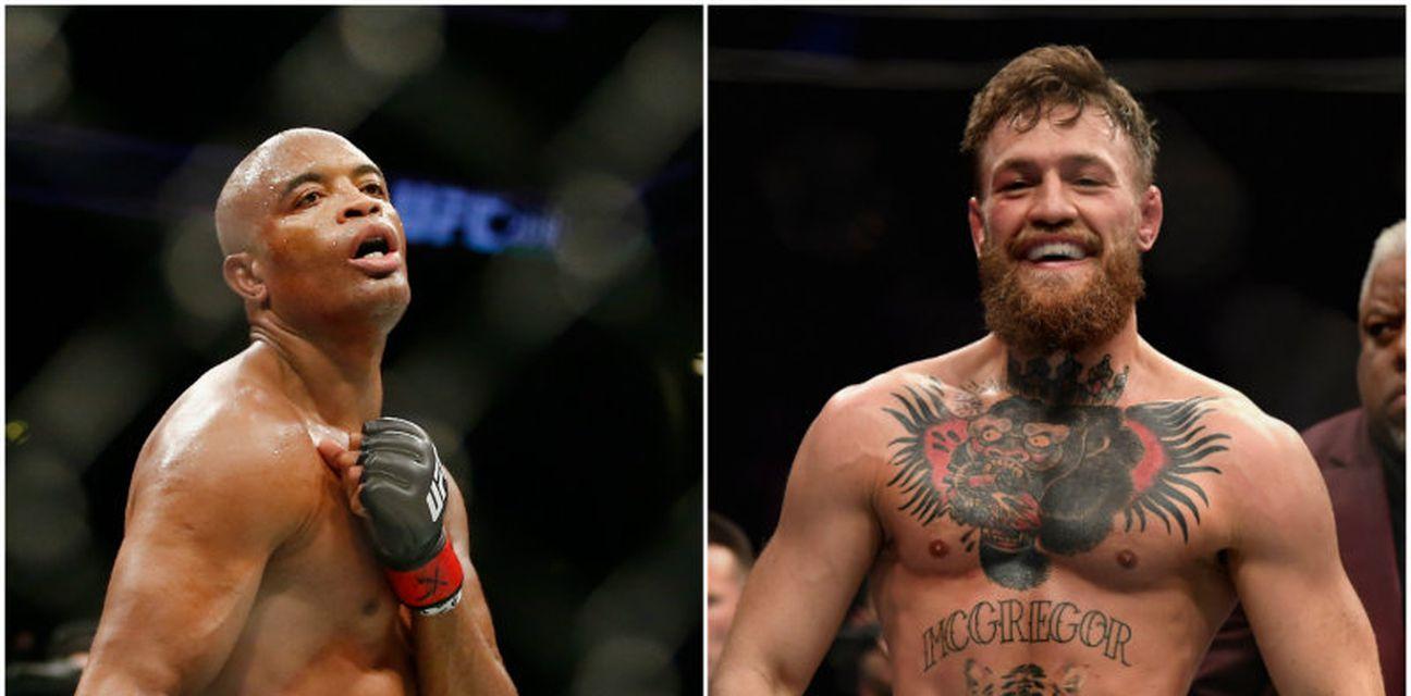 Silva vs McGregor (Foto: AFP)