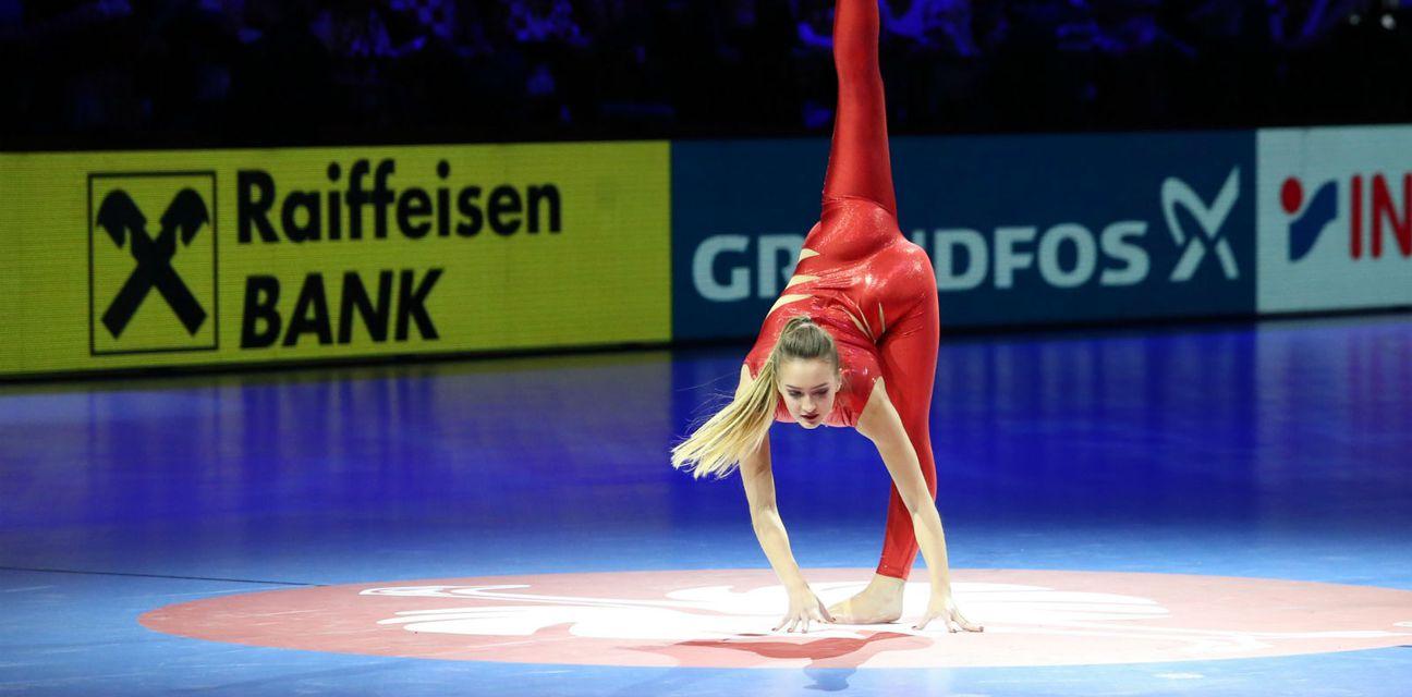 Plesačice na utakmici Hrvatska - Srbija (Foto: Ivo Cagalj/PIXSELL)