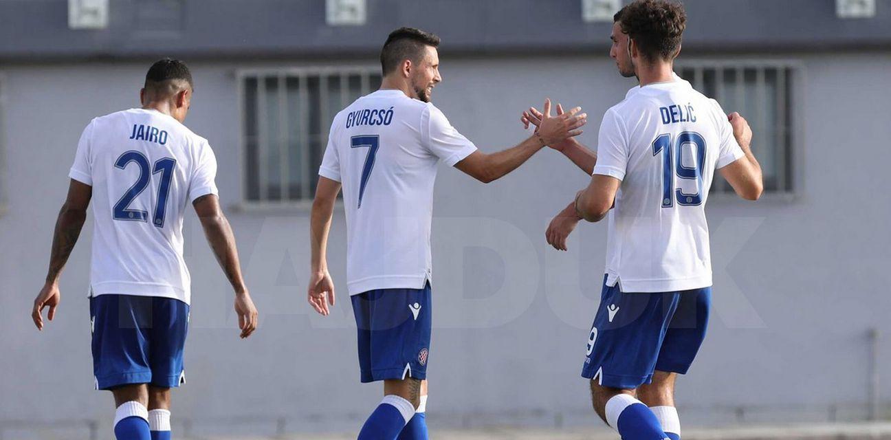 Slavlje igrača Hajduka (Foto: Robert Matić / hajduk.hr)