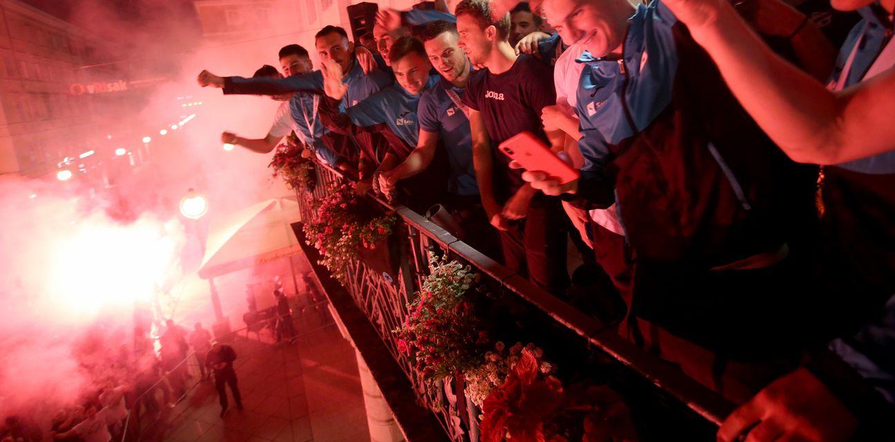 Doček nogometaša Rijeke nakon osvajanja Kupa (Foto: Nel Pavletic/PIXSELL)