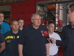 Dražen Glavina, županijski vatrogasni zapovjednik, i Mario Jurič (Foto: Dnevnik.hr) - 1