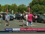 Splitski taksisti protiv ilegalaca (Video: Dnevnik Nove TV)