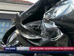 Zaposlenik veleposlanstva oštetio automobile (Video: Dnevnik Nove TV)