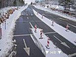 Snijeg na graničnom prijelazu Aržano (Foto: HAK)
