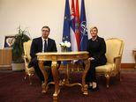 Aleksandar Vučić i Kolinda Grabar-Kitarović na Pantovčaku (Foto: Boris Scitar/Vecernji list/PIXSELL)