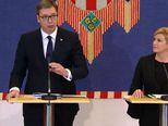 Aleksandar Vučić i Kolinda Grabar Kitarović (Foto: Dnevnik.hr)