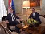 Aleksandar Vučić i Andrej Plenković (Foto: Vlada RH)
