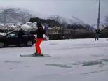 Skijanje po Dubrovniku (Video: Dubrovački list)
