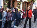 2. prosinca 2017. u društvu Milana Bandića otvorila Advent na Prekrižju (Foto: Davor Visnjic/PIXSELL)