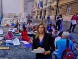 Prosvjed otočana u Zagrebu (Video: Vijesti u 17h)
