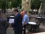 Na Titovom trgu u Rijeci nalazi se ploča s govorom maršala Tita (Video: Dnevnik.hr)