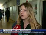 Blokada na Hrvatskim studijima u Zagrebu (Video: Vijesti u 17 h)