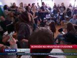 Blokada na Hrvatskim studijima (Video: Dnevnik Nove TV)
