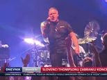 Slovenci Thompsonu zabranili koncert (Video: Dnevnik Nove TV)