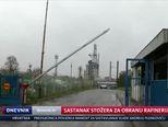 Sastanak stožera za obranu Rafinerije Sisak (Video: Dnevnik Nove TV)