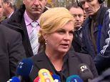 Kolinda Grabar Kitarović odala počast žrtvama (Video: Dnevnik.hr)