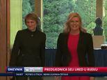Predsjednica seli ured u Rijeku (Video: Dnevnik Nove TV)