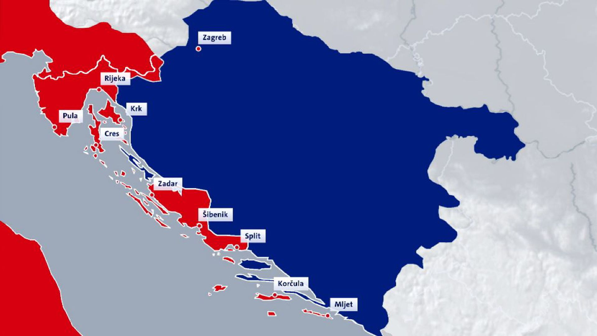 Karta Kako Je Hrvatska Izgledala Pod Talijanskom Okupacijom