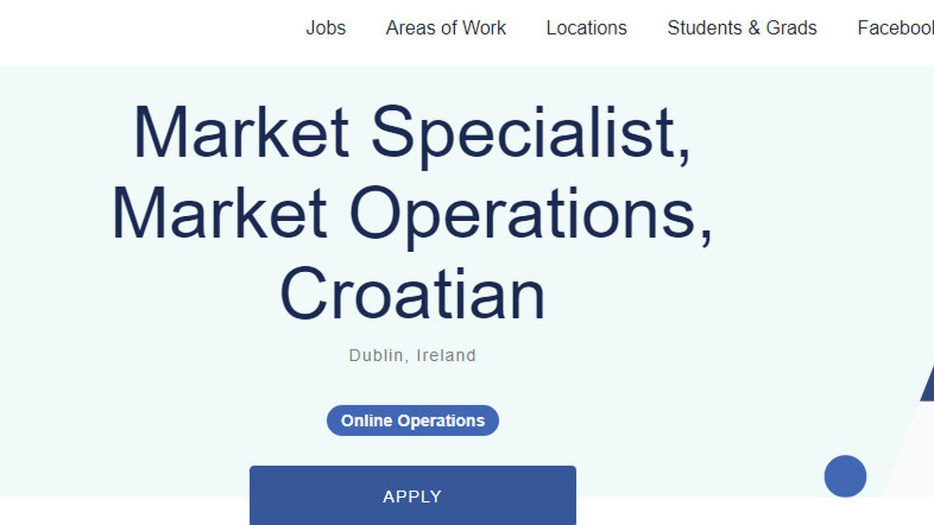 Facebook traži Hrvate: Otvorena radna mjesta u Dublinu - Zimo co