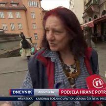 Podjela hrane potrebitima (Video: Dnevnik Nove TV)