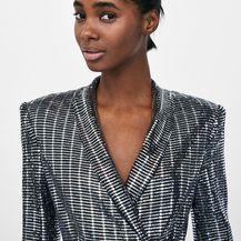 Metalik haljina brenda Zara