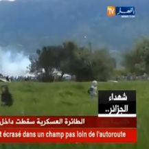 Pao alžirski vojni avion (Screenshot Reuters)