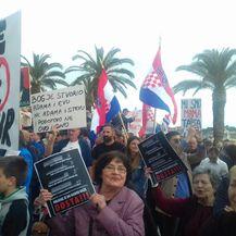 Prosvjed protiv Istanbulske konvencije u Splitu (Foto: Sofija Preljvukić) - 2