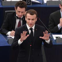Emmanuel Macron u Europskom parlamentu (Foto: AFP)