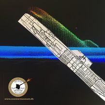 Skeniranje je pokazalo U-podmornicu na morskom dnu u blizini Skagena u Danskoj (Ilustracija: seawarmuseum.dk)