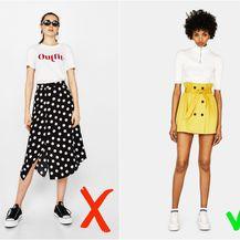 Bershka: Midi suknja (149 kn) i mini suknja (119 kn)